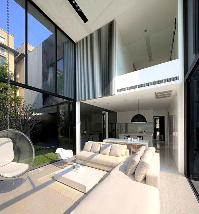 Square Modern Style House In Bangkok Interiorzine