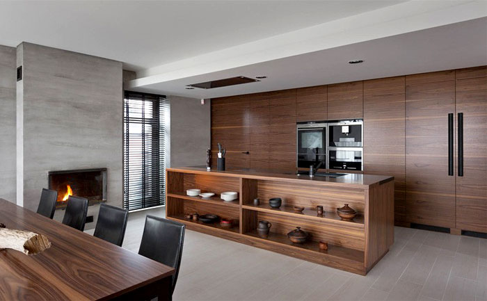trendy functional contemporary kitchen