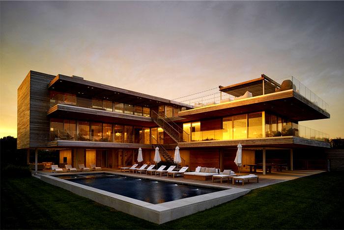 coastal villa pool area