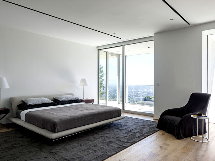 contemporary residence bedroom interior