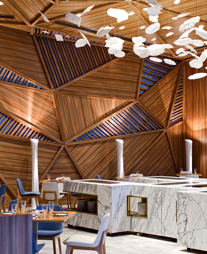 home design inspiration can come from restaurants like this Asian one in