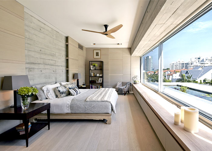 asian minimalist bedroom interior