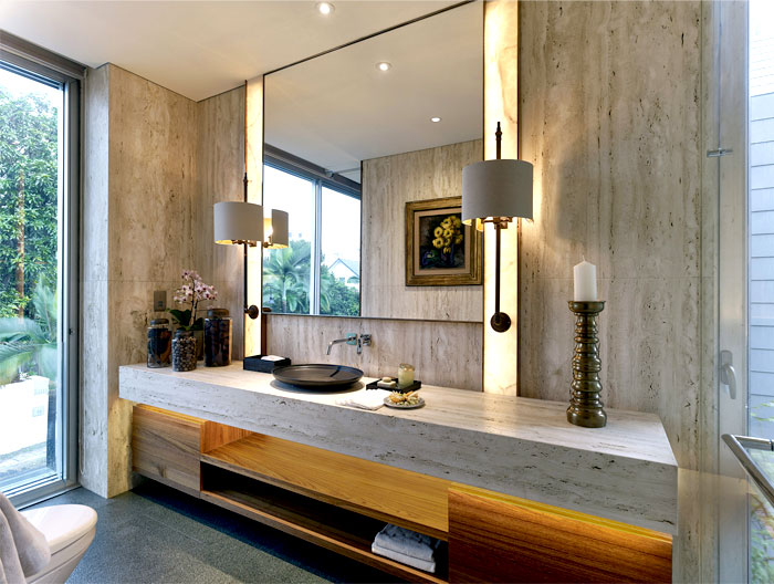 asian minimalist house bathroom interior