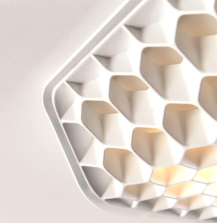 led-lighting-honeycomb-structure