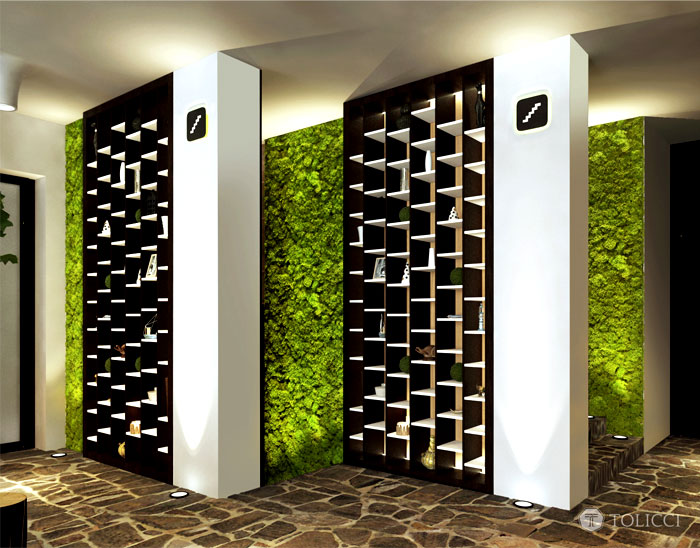 vertically living walls