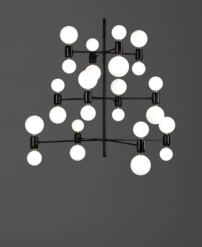 aballs black chandelier