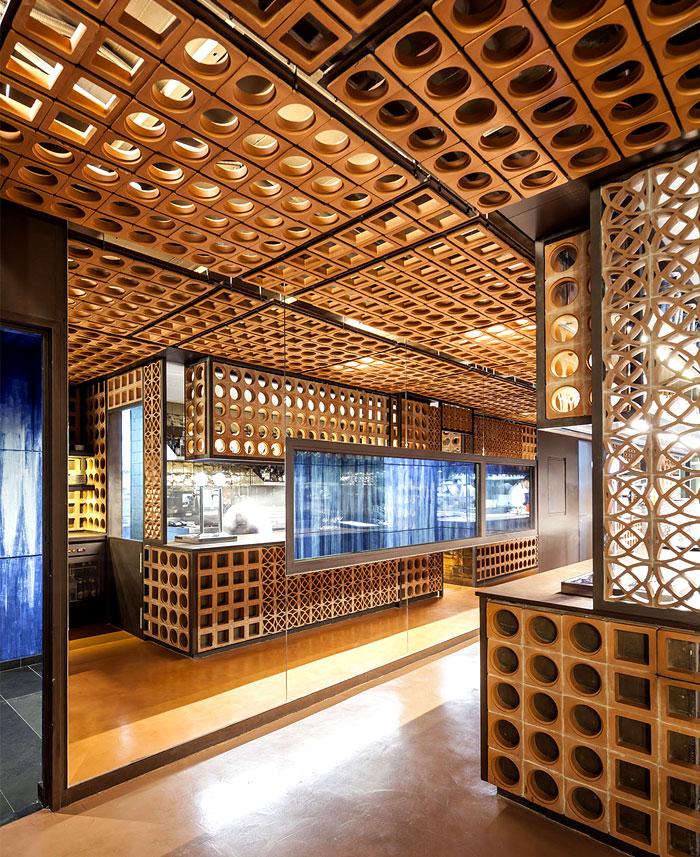 beautiful ceramic lattice like ornaments