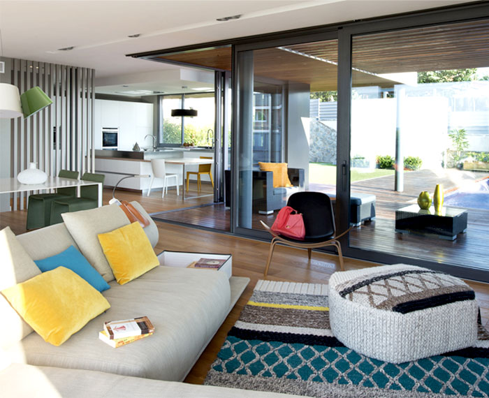 functional modern dwelling living room