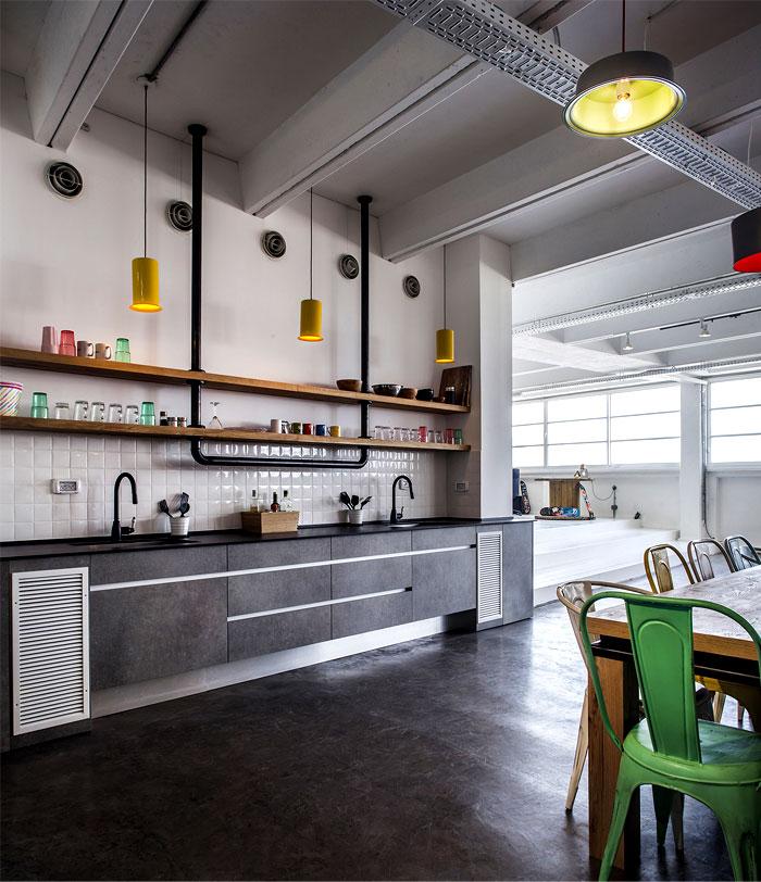 office kitchen dining area
