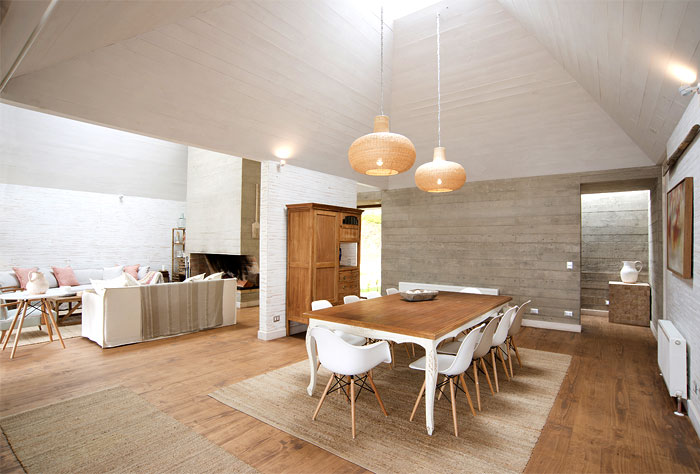 stylish white beige caramel color palette dining room