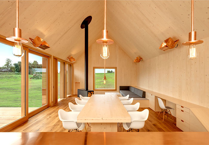 timber house copper lighting 3