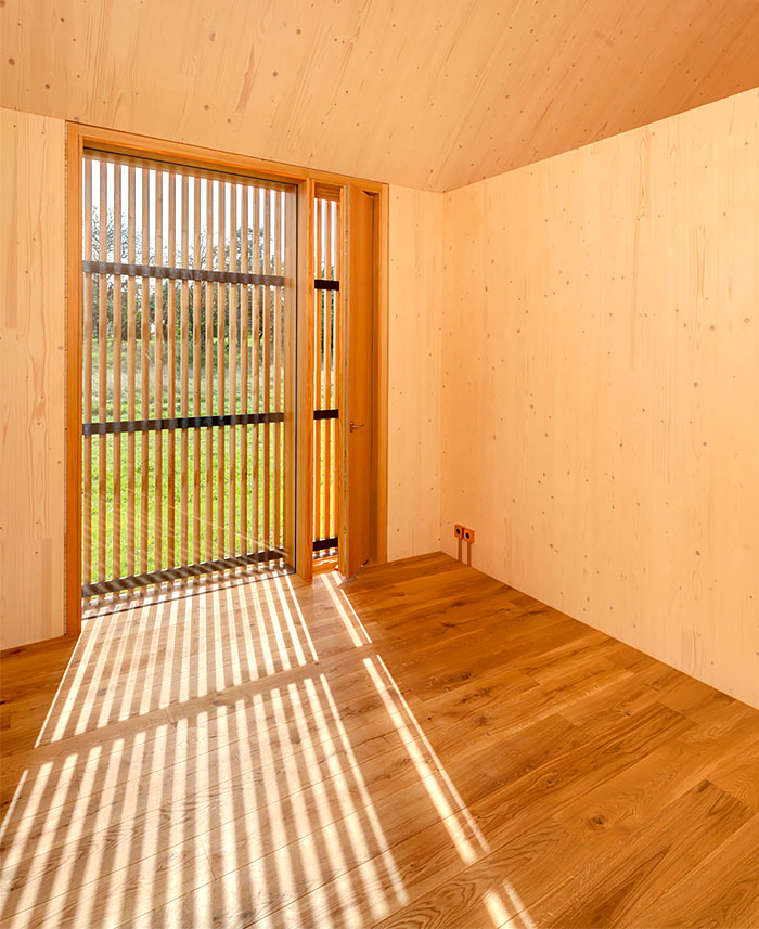 timber house interior