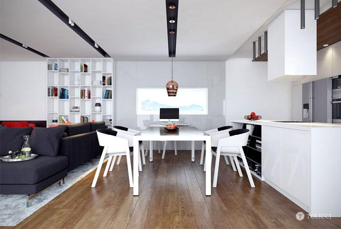 tolicci design studio dining area