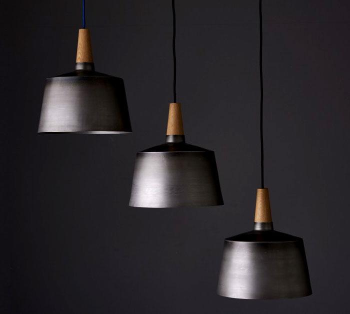 black steel timber light objects 1