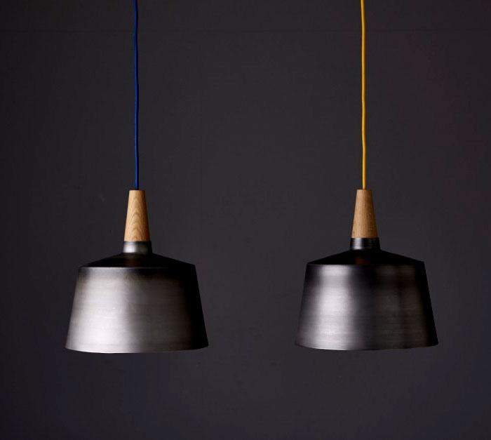 black steel timber light objects 2