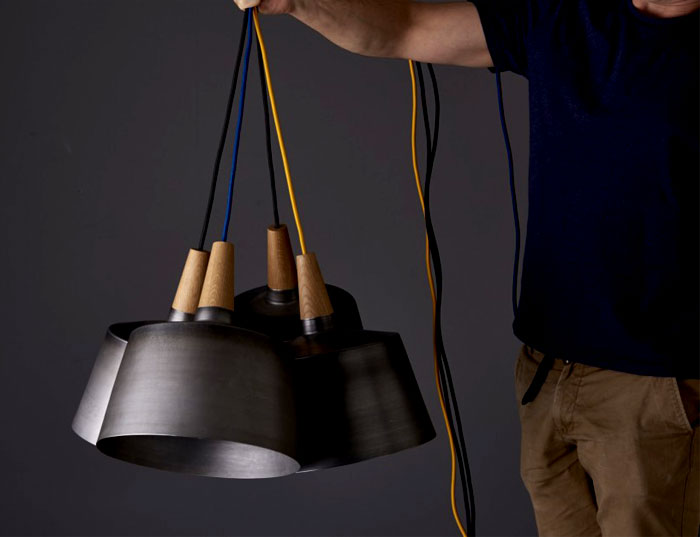 black steel timber light objects 3