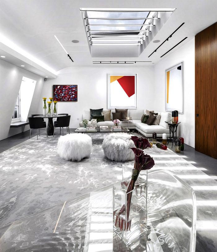 impressive beautiful interior london penthouse 2