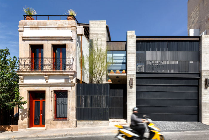 innovative contemporary house urban center 1