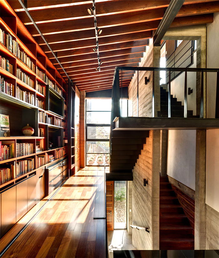 innovative contemporary house urban center 11