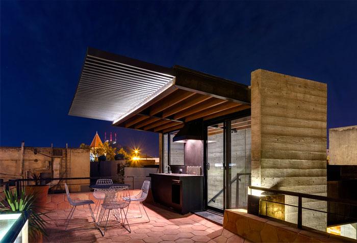 innovative contemporary house urban center 6