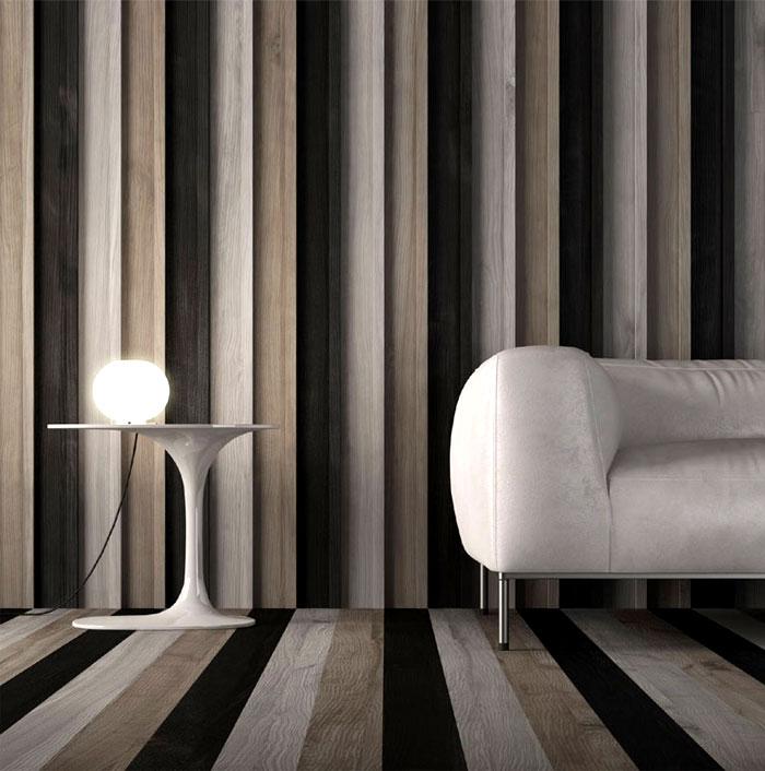 natural wooden cladding floor walls 1