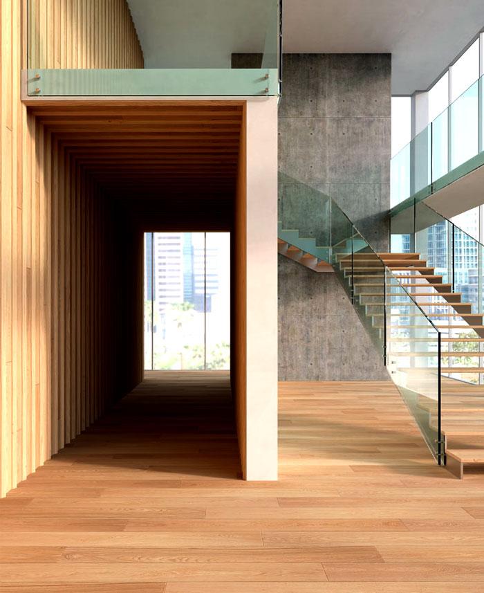 natural wooden cladding floor walls 7