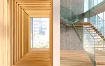 wooden cladding floor walls 338x212