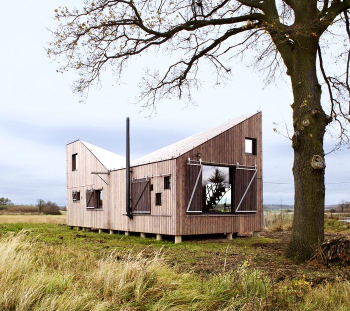 contemporary wooden house zilvar 11