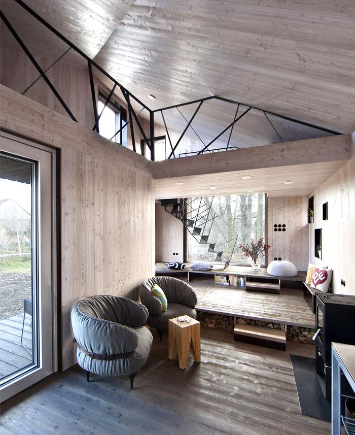 contemporary wooden house zilvar 8