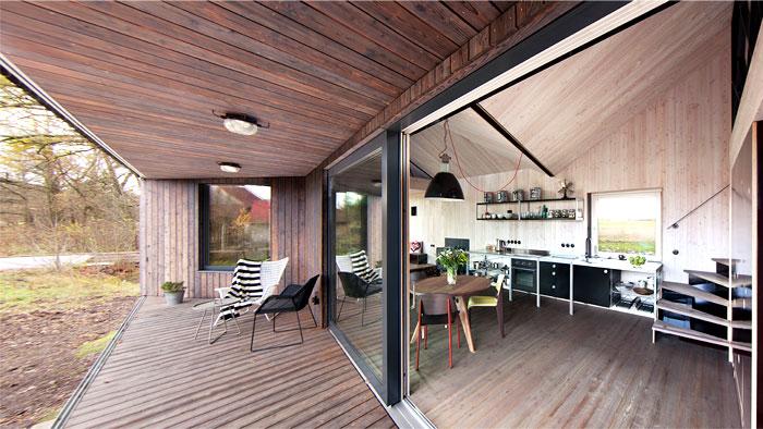contemporary wooden house zilvar