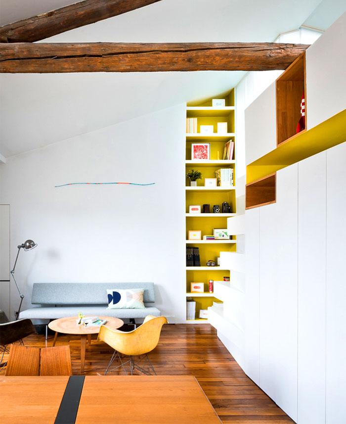small space parisian apartment 13