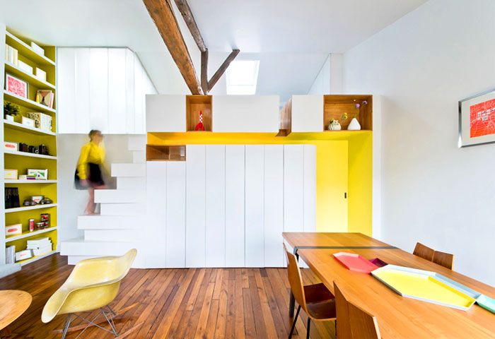 small space parisian apartment 2
