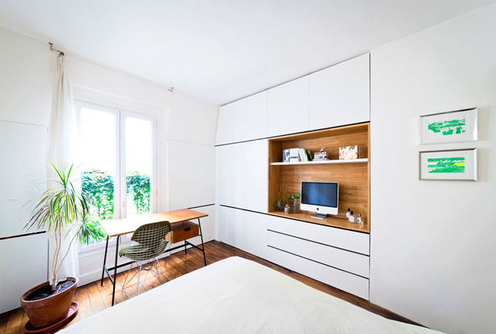 small space parisian apartment 6