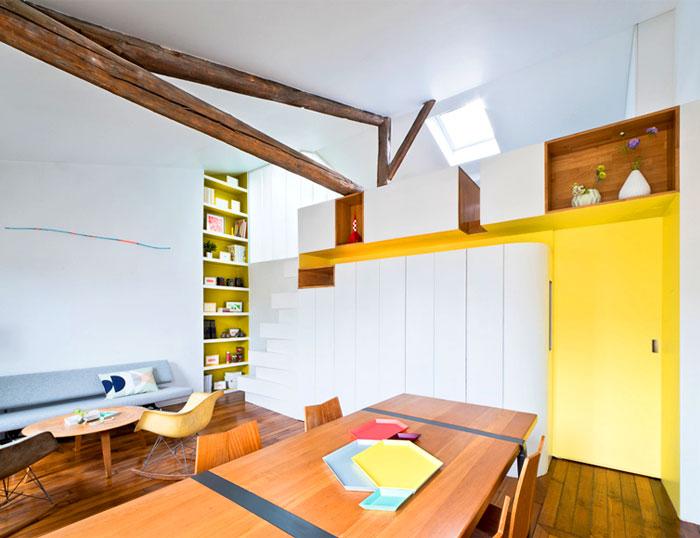 small space parisian apartment 9