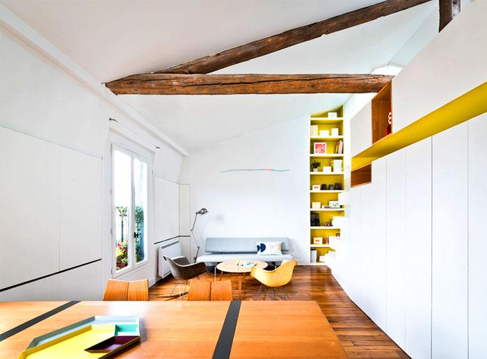 small space parisian apartment
