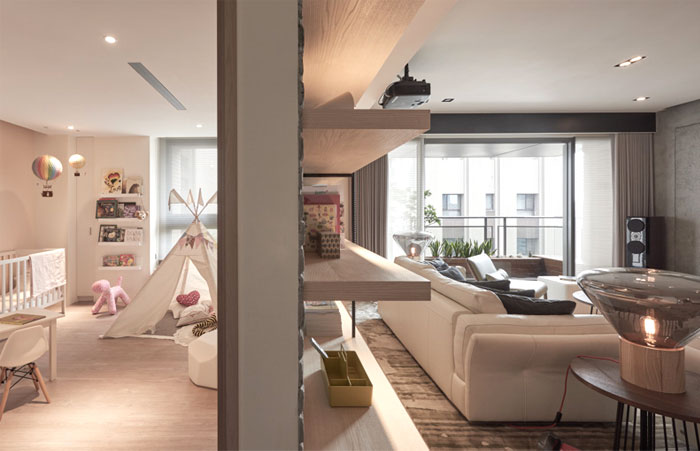 Trendy Space Naturally Combine The Soft Textures Warm