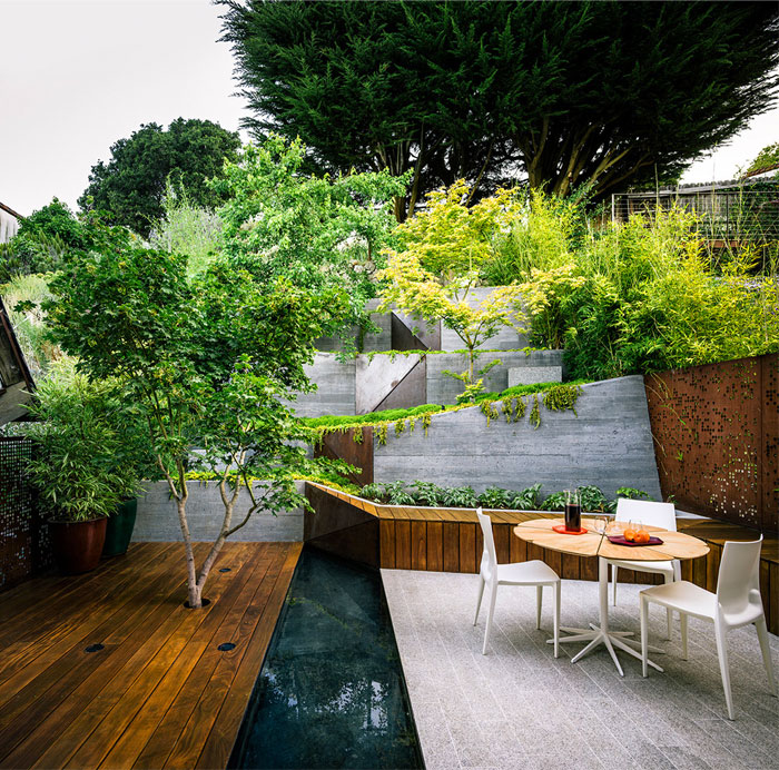 outdoor space zen atmosphere