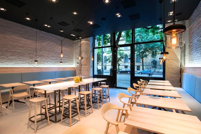 Greek Cuisine Restaurant Decor by Gasparbonta - InteriorZine
