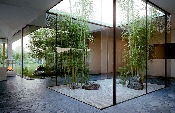 in home modern asian garden