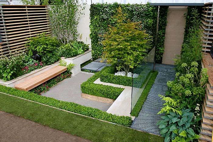 modern garden idea for very small spaces asian style