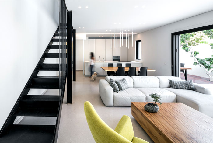 semi detached house remodeled amitzi architects 11