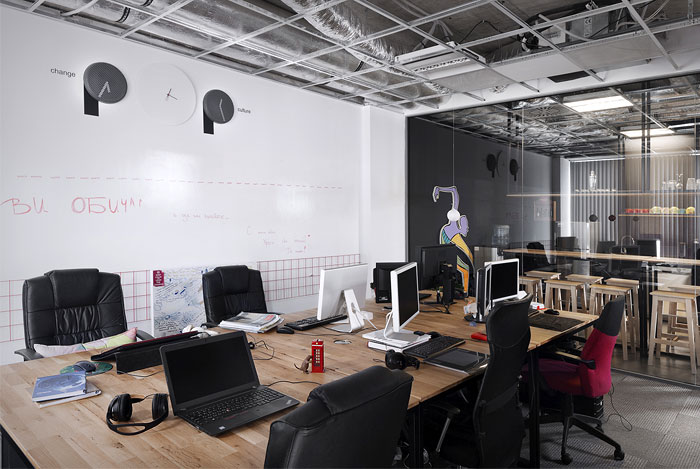 advertising agency office cache atelier 8