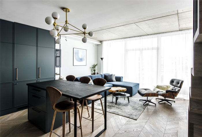 . Modern Comfort and Luxury at apartment Designed by Interjero