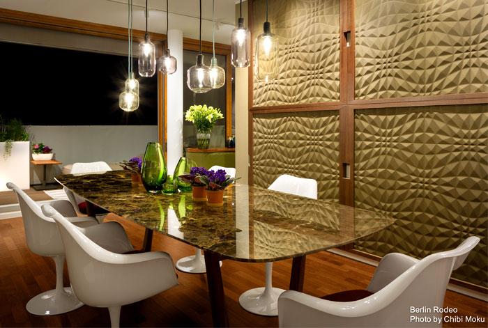 dining room 3d wall panels decor ideas 4