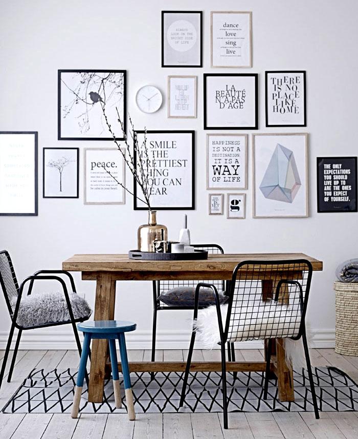 dining room art gallery wall decor ideas 4