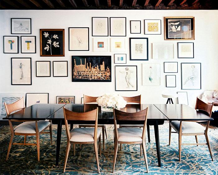 dining room art gallery wall decor ideas 7