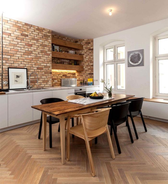 dining room brick walls decor ideas 3