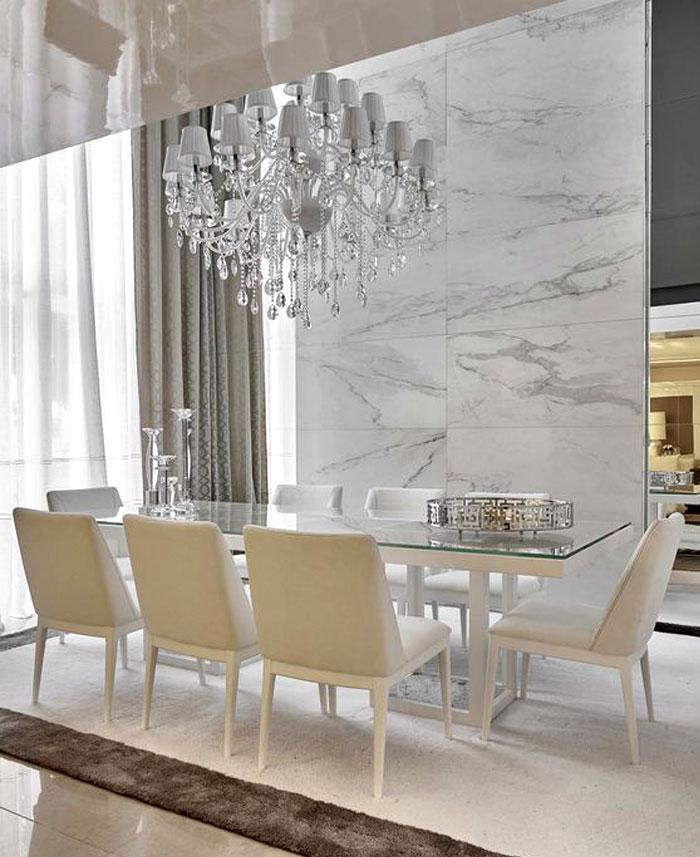dining room marble walls decor ideas 1