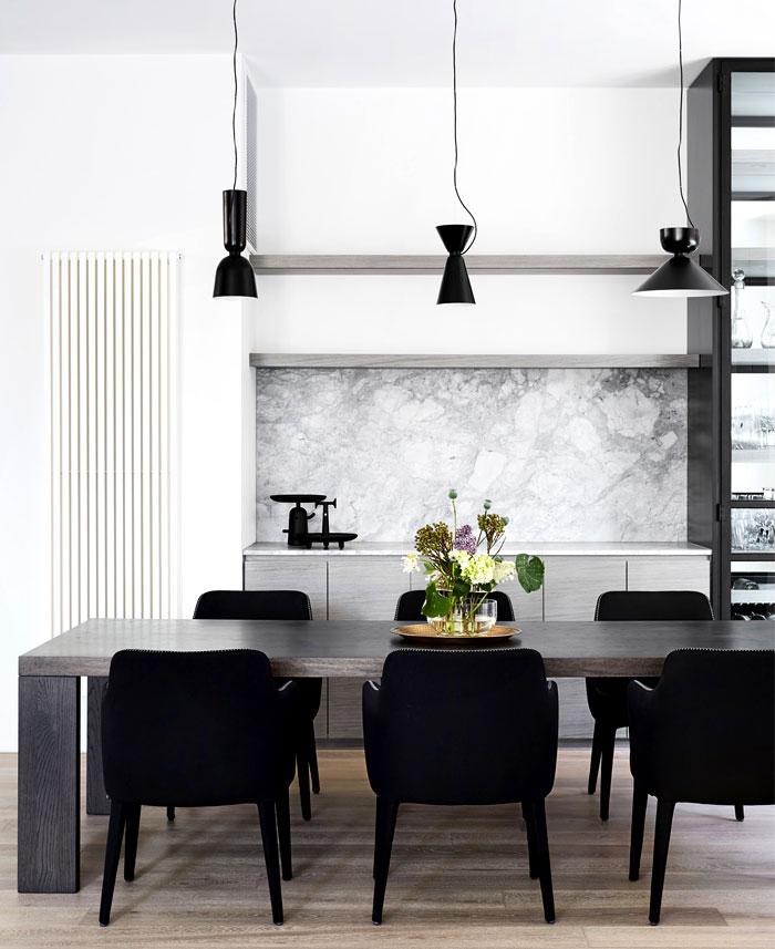 dining room marble walls decor ideas 3