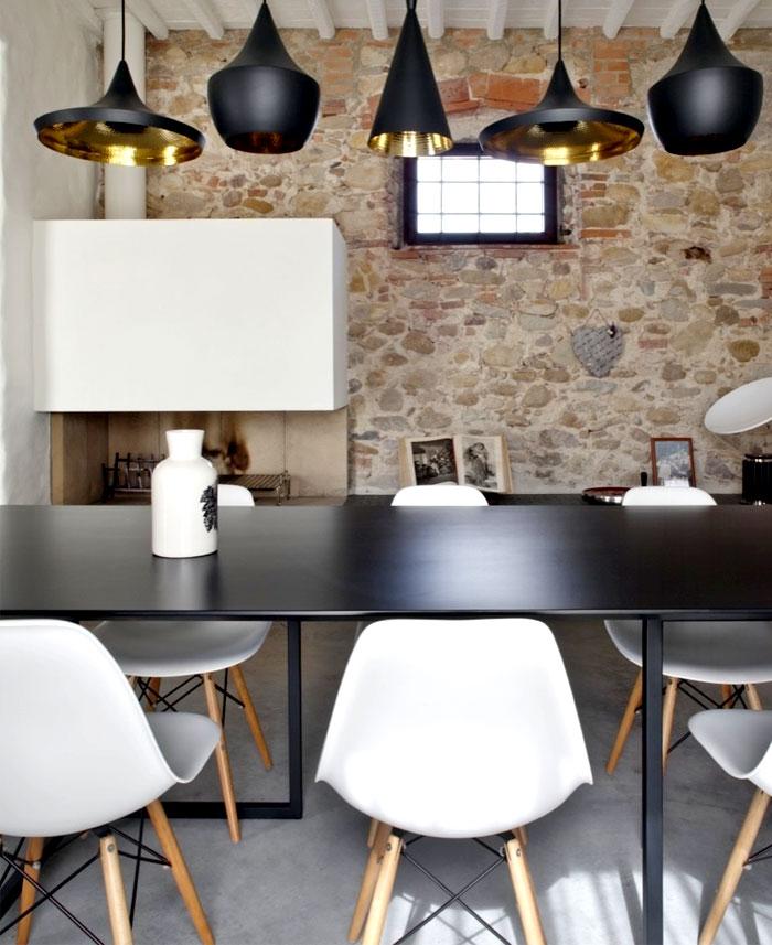 dining room stone walls decor ideas 3